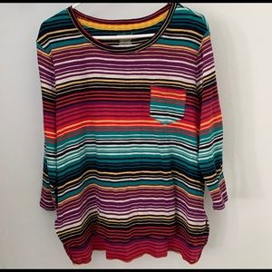 Westbound Multicolor Striped Sweater